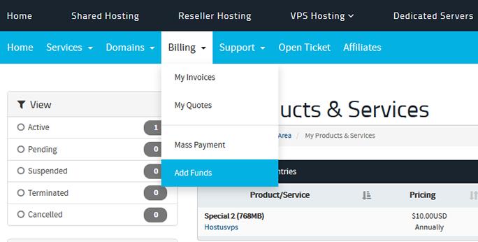 Hostus账户预充值自动续费防止过期关闭