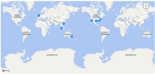 HostUS 8个数据中心PING速度性能 - 洛杉矶、伦敦、香港、新加坡